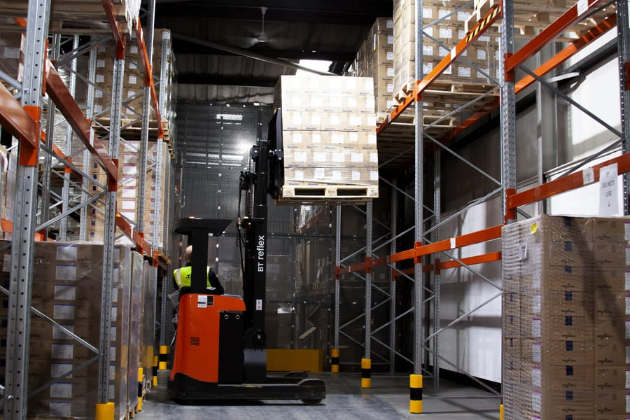 TPS Healthcare Fork Lift in Use